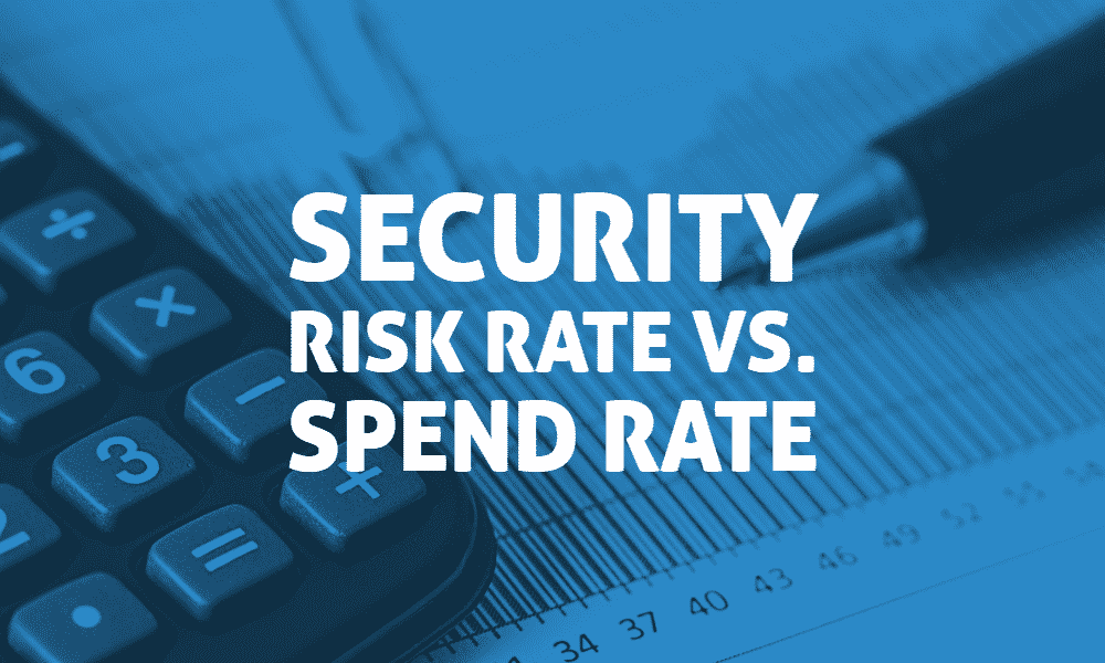 Security Risk Rate vs. Spend Rate 1